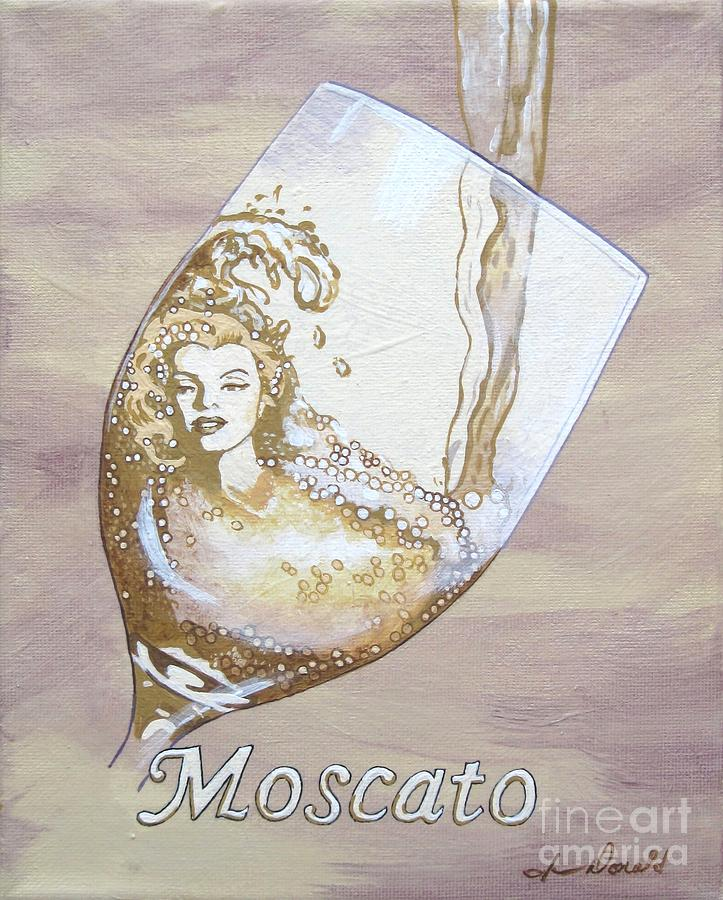 Wine Painting - A Day Without Wine - Moscato by Jennifer  Donald