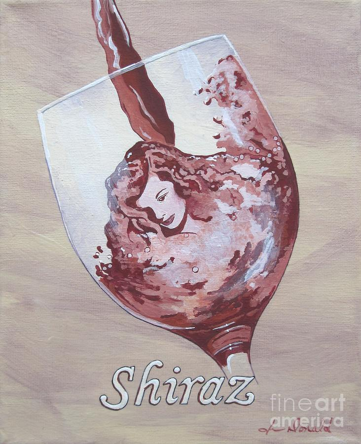 Wine Painting - A Day Without Wine - Shiraz by Jennifer  Donald