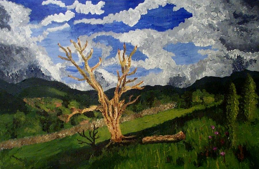 Landscape Painting - A Dead Tree by Mats Eriksson