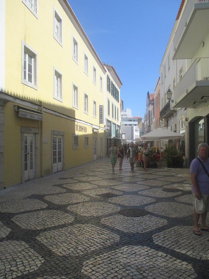 Street Photograph - A Detail From A Street In The Historical Centre Of Cascais Near Lisbon by Anamarija Marinovic
