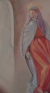 Pontormo Painting - A Detail Of Annunciation by Leyla Uzdenova