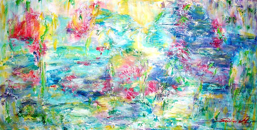 Abstract Painting - A Different Monet by Mary Sedici
