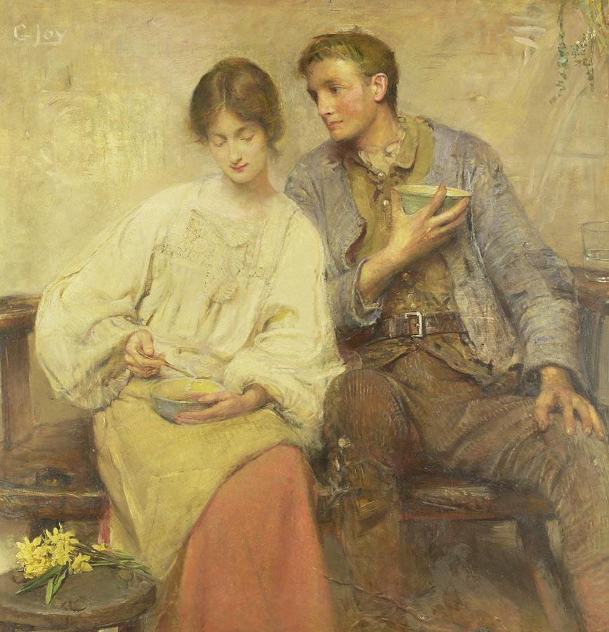 Flowers Painting - A Dinner Of Herbs  by George William Joy