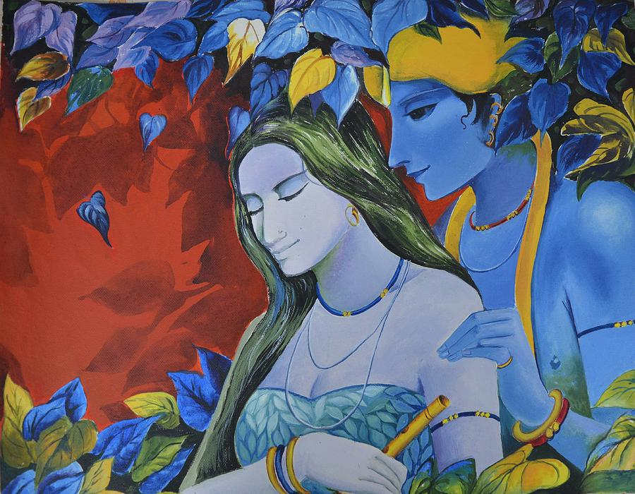 A Divine Love Painting by Sukanya Bhattacharjee