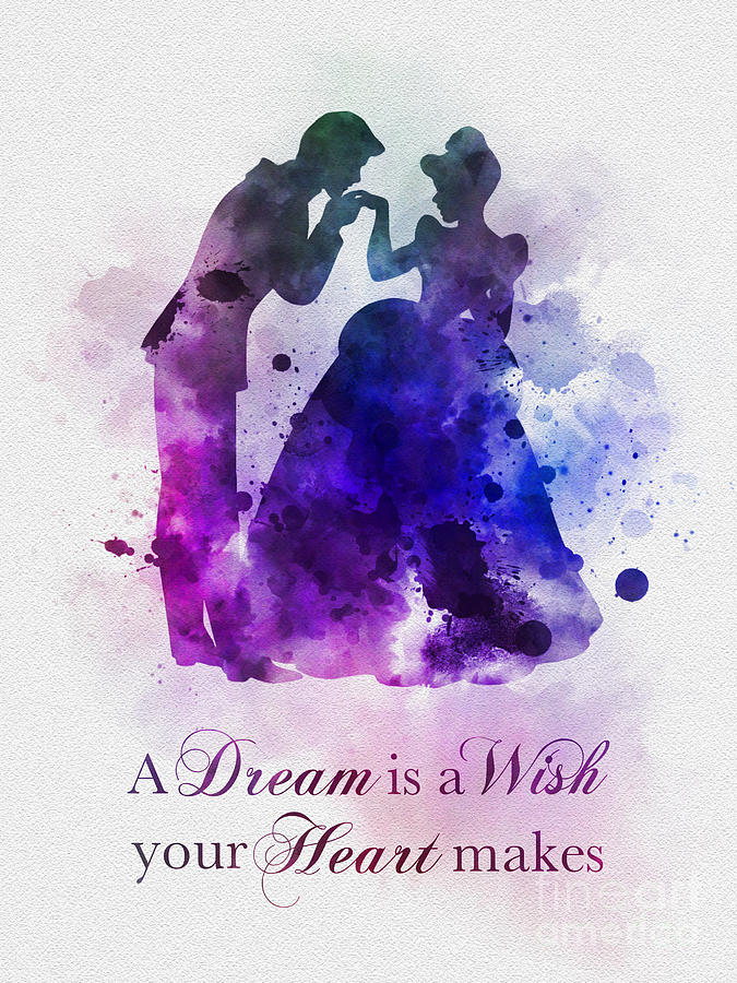 A Dream Is A Wish Your Heart Makes Mixed Media by My ... A Dream Is A Wish Your Heart Makes Shirt