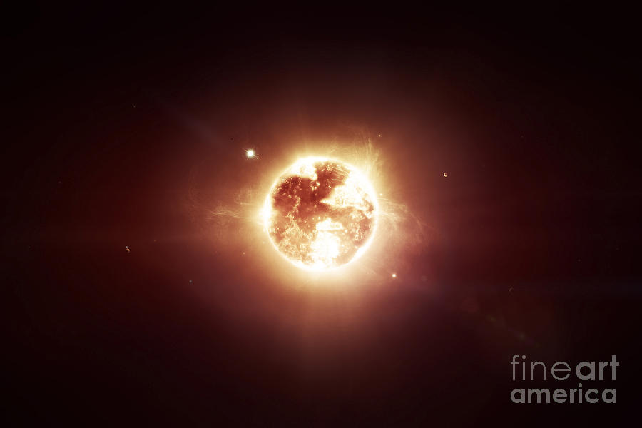 Concept Digital Art - A Dying Star Which Will Soon Give New by Tomasz Dabrowski