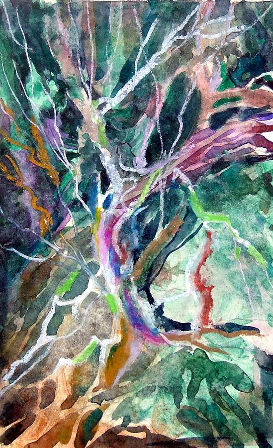 Tree Painting - A Dying Tree by Mindy Newman