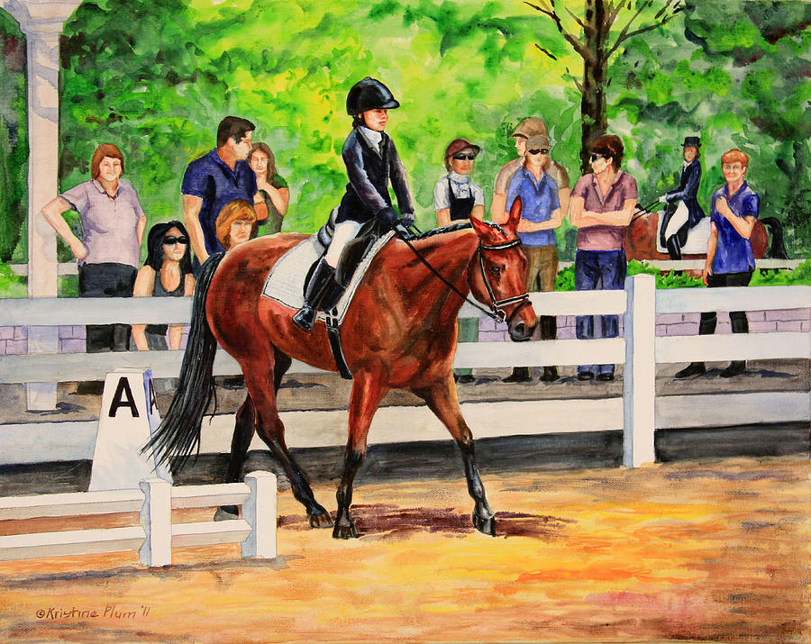 Horse Painting - A Enter by Kristine Plum