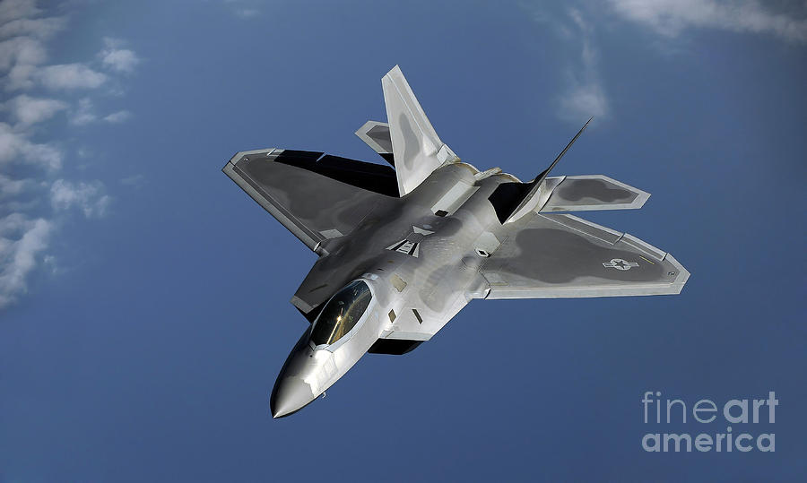 A F-22 Raptor Returns To A Mission Photograph