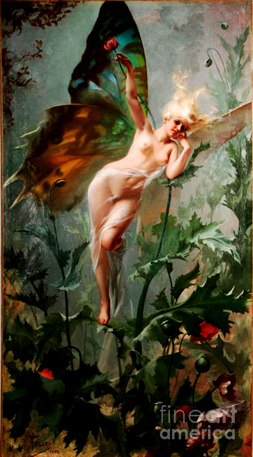 Fantasy Painting - A Fairy by Reproduction