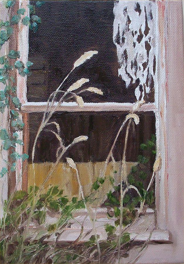 Abandoned House Painting - A Family Lived Here by Irene Corey