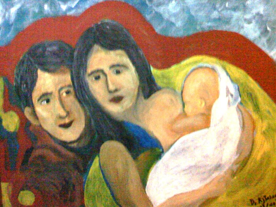 Family Painting - A Family by Rolando Talag