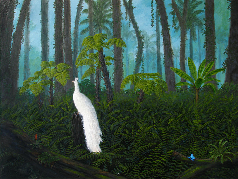 Jungle Painting - A Fantasy In White by Mark Junge