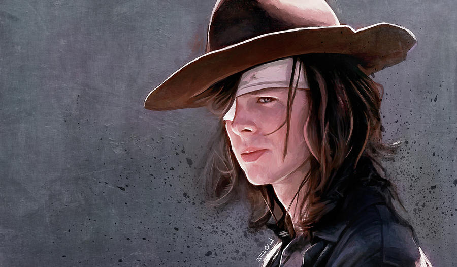 Walking Painting - A Farewell To Carl Grimes - The Walking Dead by Joseph Oland