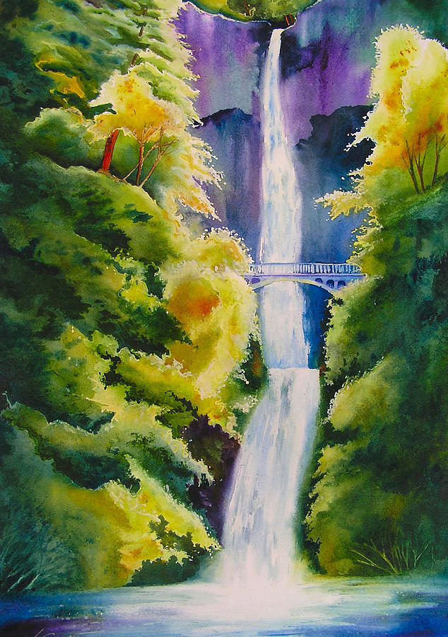 Waterfall Painting - A Favorite Place by Karen Stark