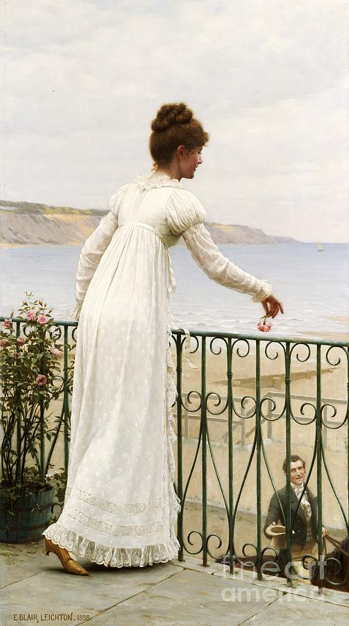 Valentine's Day Painting - A Favour by Edmund Blair Leighton