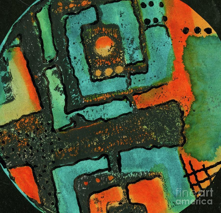 Mixed Media Painting - A Few Black Dots by Angela L Walker