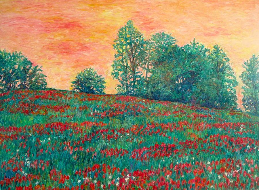 Wildflowers Painting - Field of Beauty by Kendall Kessler