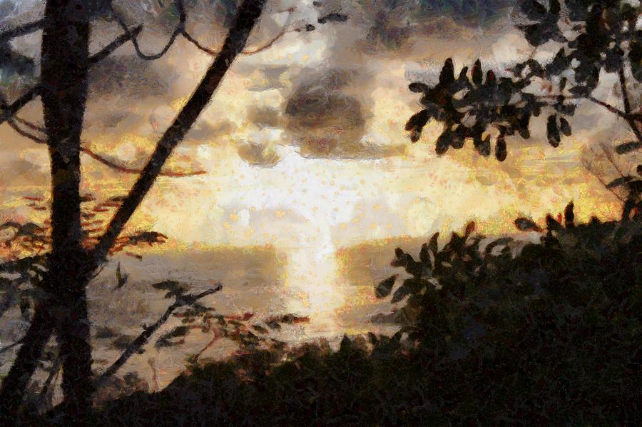 Sunset Photograph - A Fiery Sunset by Ashish Agarwal