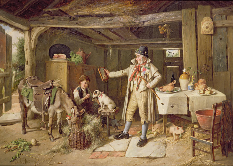 Charles Hunt Painting - A Fine Attire by Charles Hunt