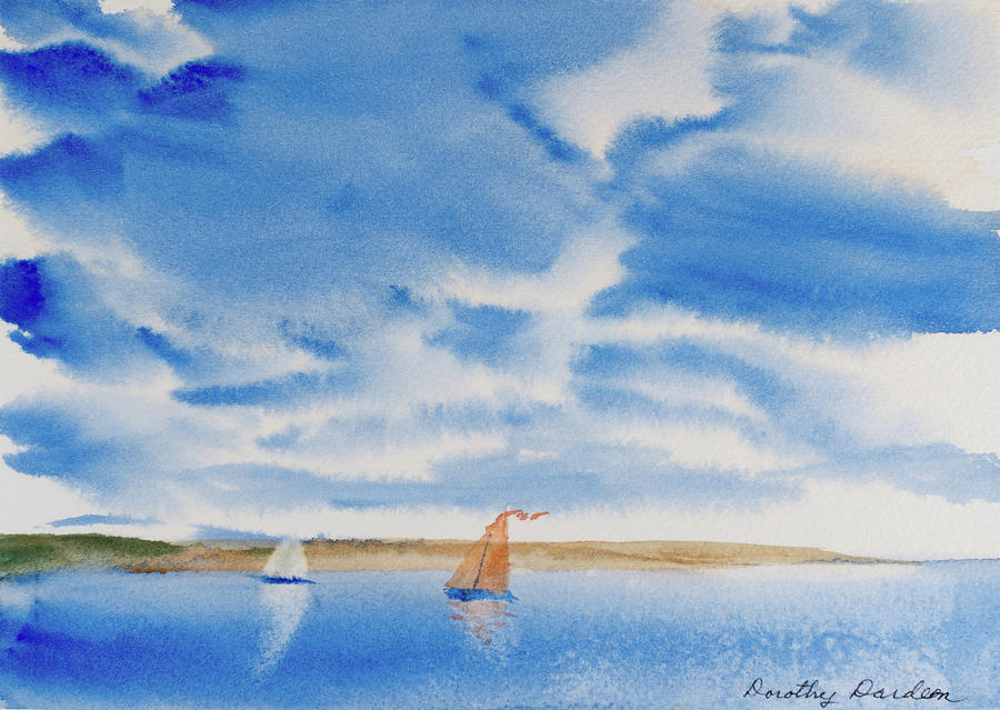 A Fine Sailing Breeze on the River Derwent by Dorothy Darden