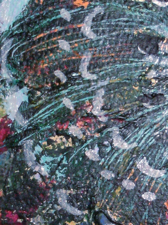 Closeup Of Fins Mixed Media - A Finment Of My Imagination by Anne-Elizabeth Whiteway
