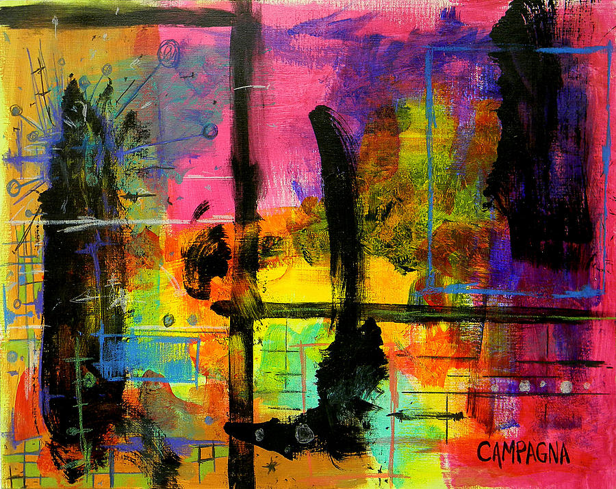 Acrylic Mixed Media - A Fleeting Thought by Teddy Campagna