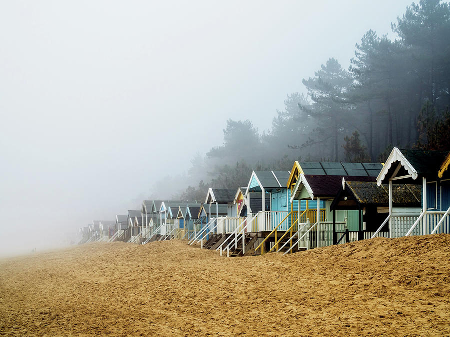 Wells Photograph - A Foggy Beach by Nick Bywater