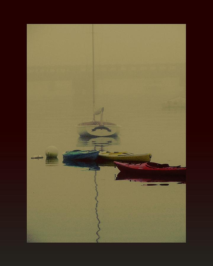 Boats Photograph - A Foggy Day On Cape Cod Bay... by Rene Crystal