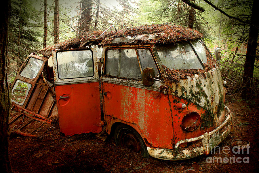 23 Photograph - A Forgotten 23 Window Vw Bus  by Michael David Sorensen
