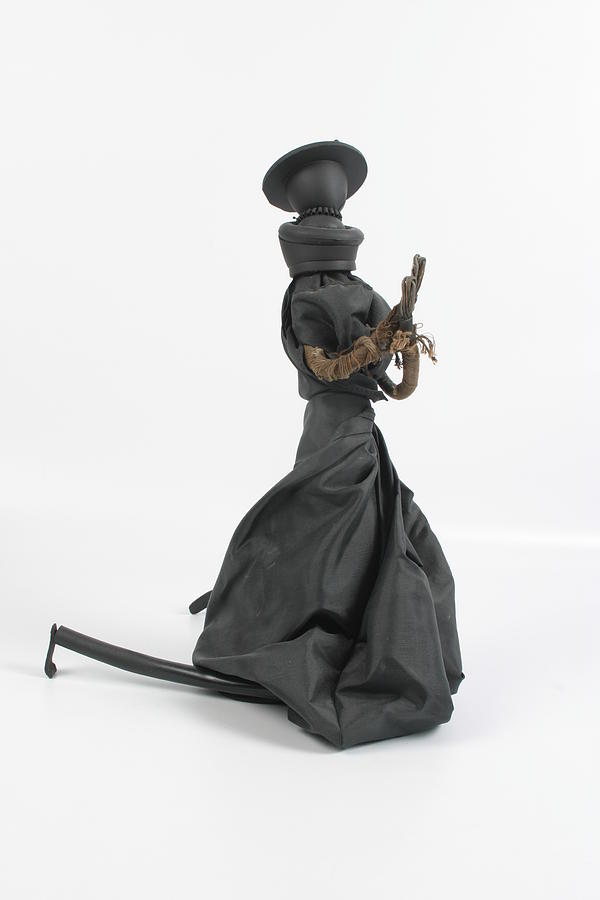 Green Sculpture - A Frayed Nun The Less by Michael Jude Russo