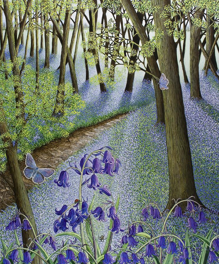 Violet Painting - A Fresh Start by Pat Scott