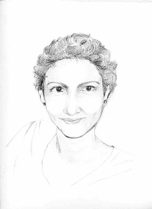 Sketch Drawing - A Friend by Mousumi Mani