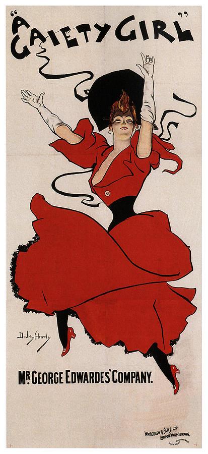 A Gaiety Girl 2 - Musical Drama - Vintage Advertising Poster Mixed Media