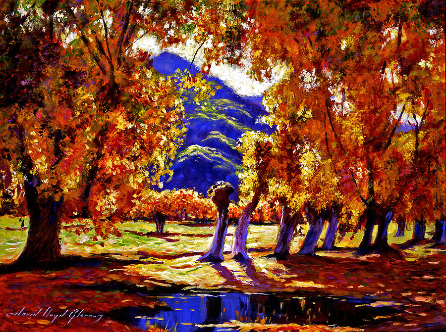 Autumn Painting - A Galaxy Of Autumn Color by David Lloyd Glover