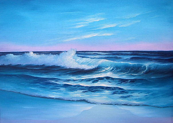 Seascape Painting - A Gentle Morning by Francine Henderson