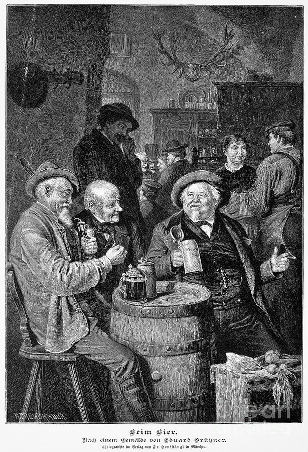 19th Century Photograph - A German Tavern by Granger