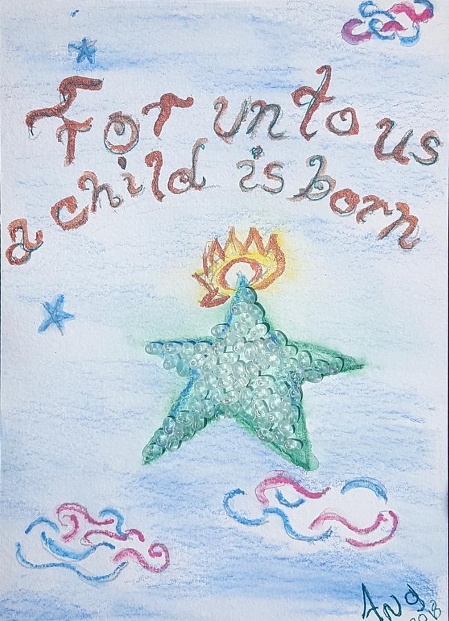 Star Mixed Media - A Gift From Heaven by Angela Lasky