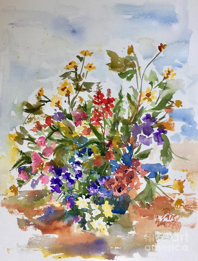 Bouquet Painting - A Gift by Patsy Walton