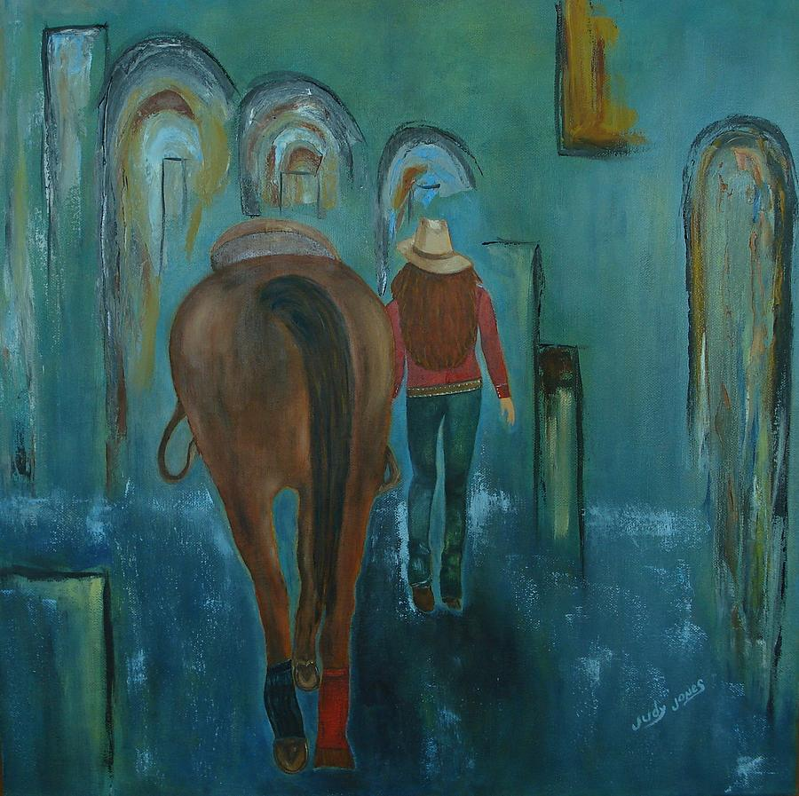 A Girl And Her Horse Painting