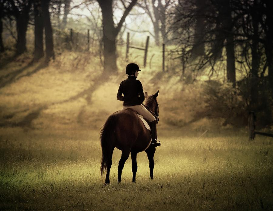 A Girl And Her Horse Photograph by Scott Fracasso