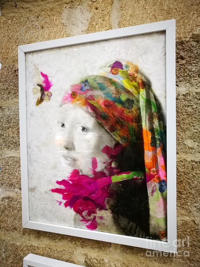 Johannes Vermeer Photograph - A Girl With A Pearl by Jarek Filipowicz