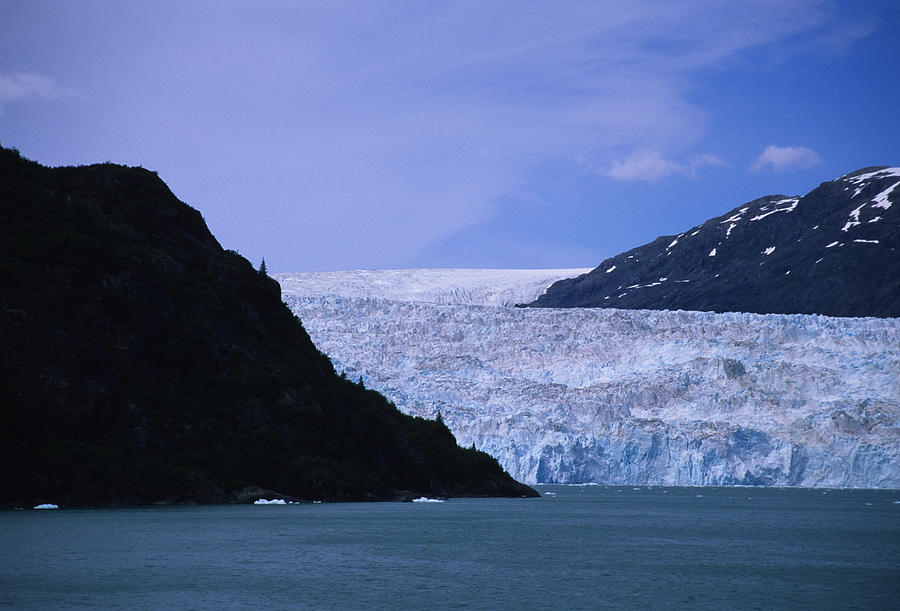 Prince William Sound Photograph - A Glacier Spills Into The Prince by Stacy Gold