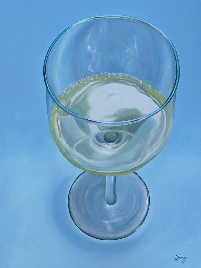Realism Painting - A Glass of Wine is Fine by Emily Page