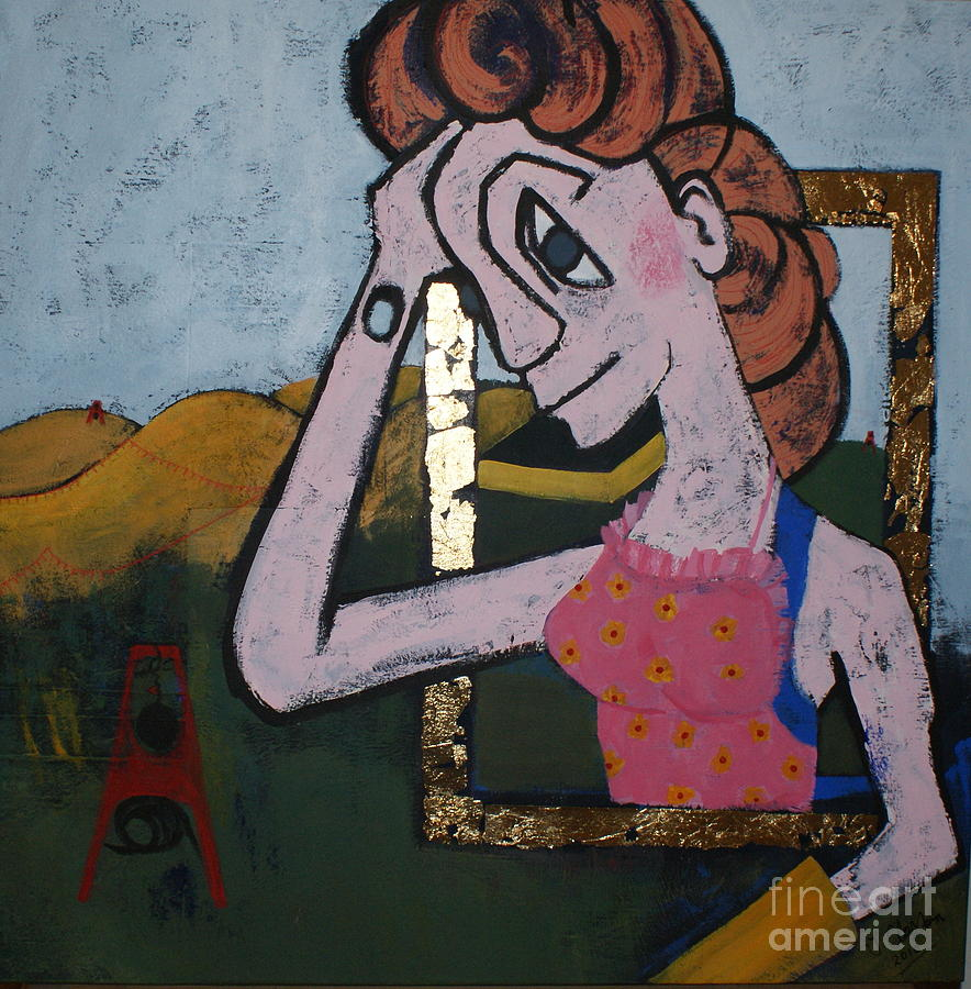 Women Painting - A Good Day by Joanne Claxton