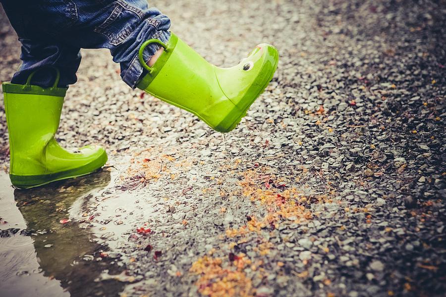 Childhood Photograph - A Good Rainy Day by Debi Bishop