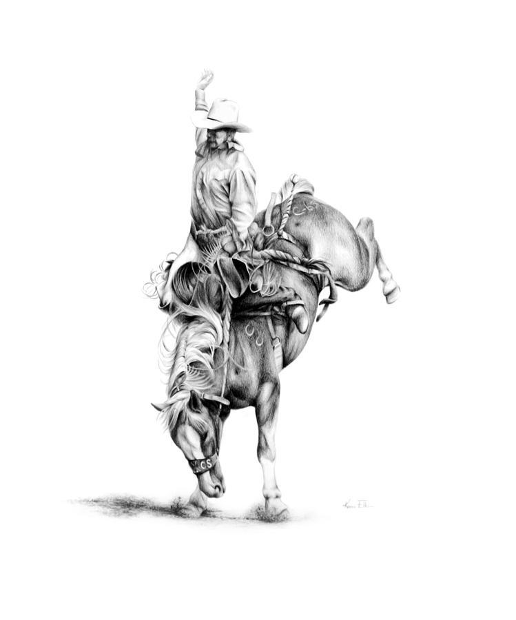A Good Ride Drawing by Karen Elkan