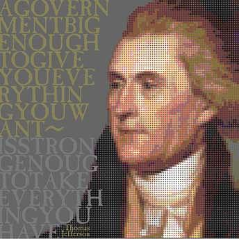 Thomas Jefferson Digital Art - A Government Big Enough by Robert Hofland