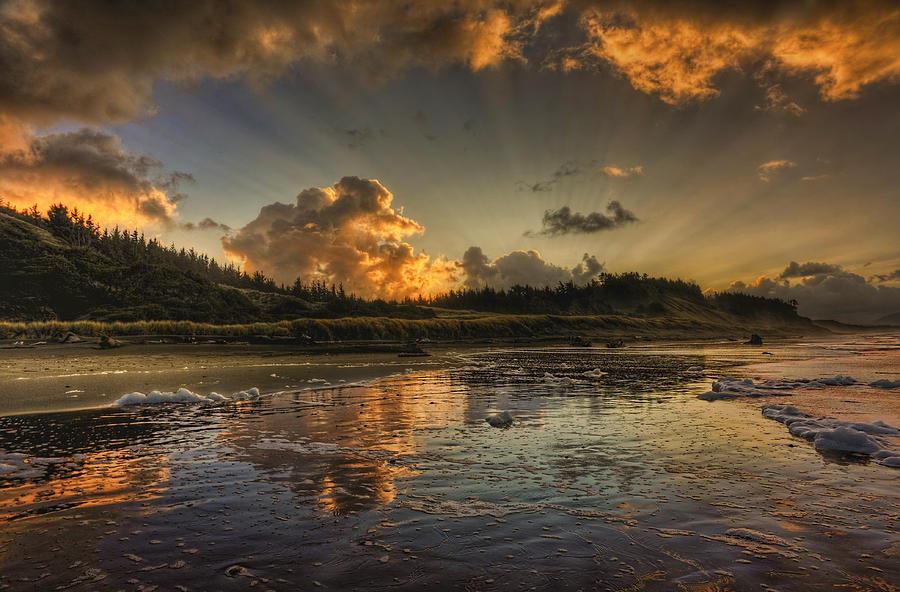 Sunrise Photograph - A Grand Beginning by Randall Scholten