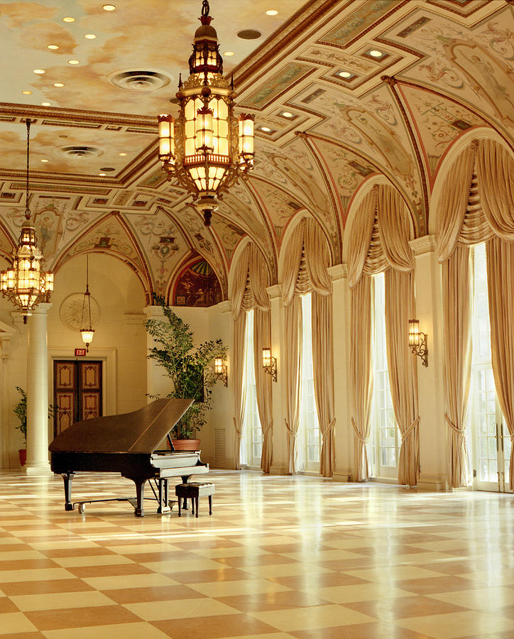 The Breakers Photograph - A Grand Piano At The Breakers 100 by Rich Franco